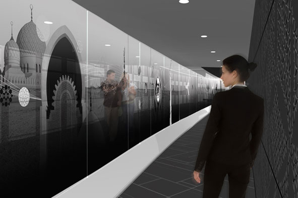 burj kalifa mural