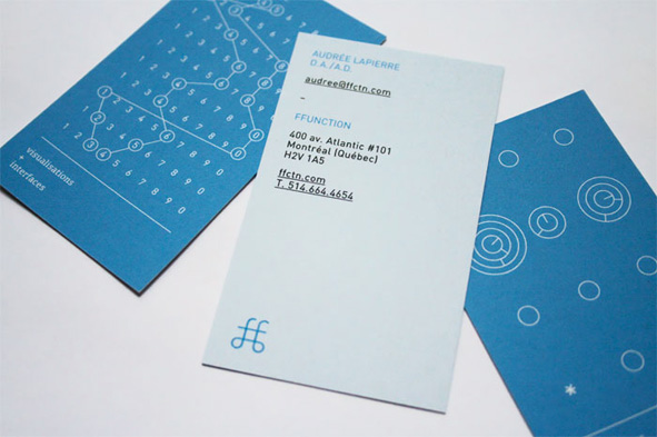 business cards data visualization